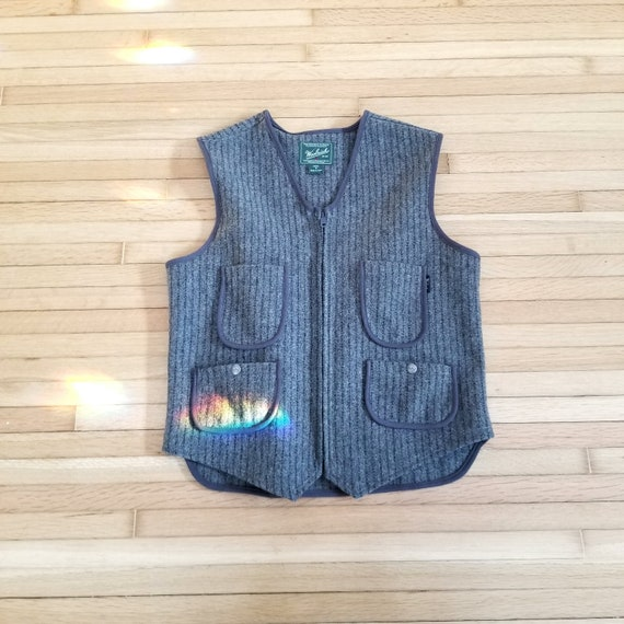 Men's Vintage Woolrich Dress Vest / Wool Vest / Me