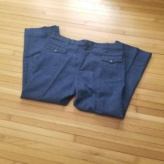 Vintage 1970's Lee Western Suit Pants / 41 x 28 /… - image 8