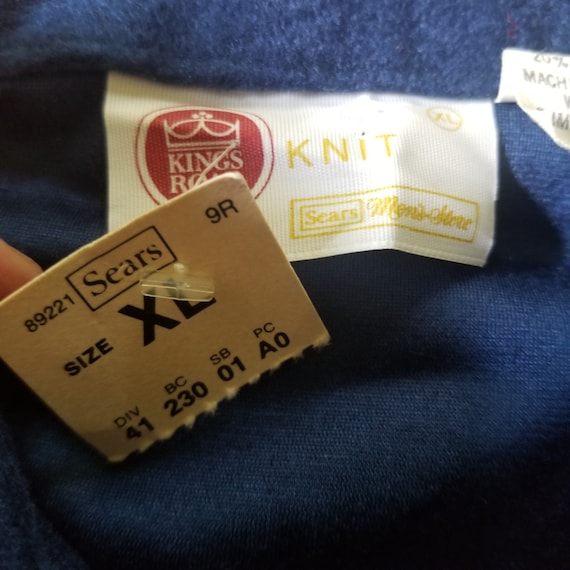 Vintage 1970's Sears Kings Road Velour Pullover S… - image 4