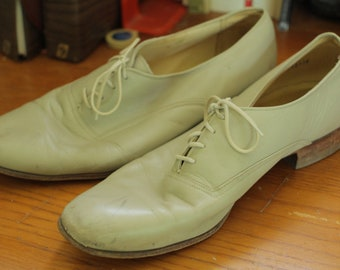 Vintage Hanover Wing tips by Andre Marseille / 10 1/2 / Oxfords / Leather Dress Shoes / Men's