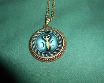 Triple moon goddess necklace