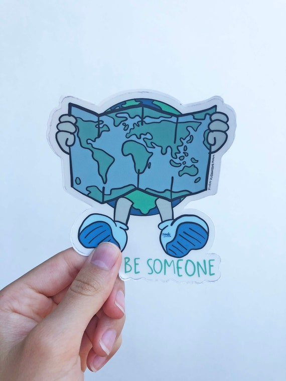 Planet Earth Sticker, Earth Laptop Sticker, Earth Car Sticker, Earth Yeti Sticker, Planet Earth Decal, Planet Earth, eco art, be someone art