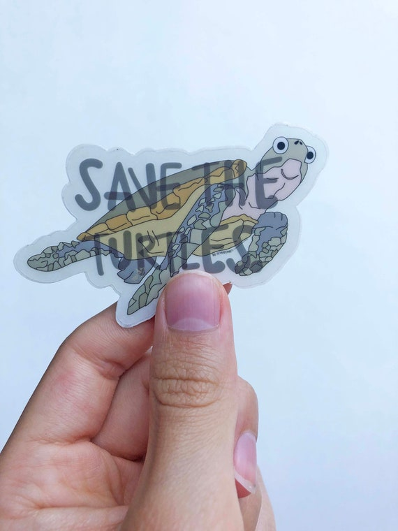 Turtle Sticker - Sea Turtle Sticker - Snorkeling Sticker - Under The Sea Sticker - Wildlife Sticker - Save The Turtles Sticker - Animals