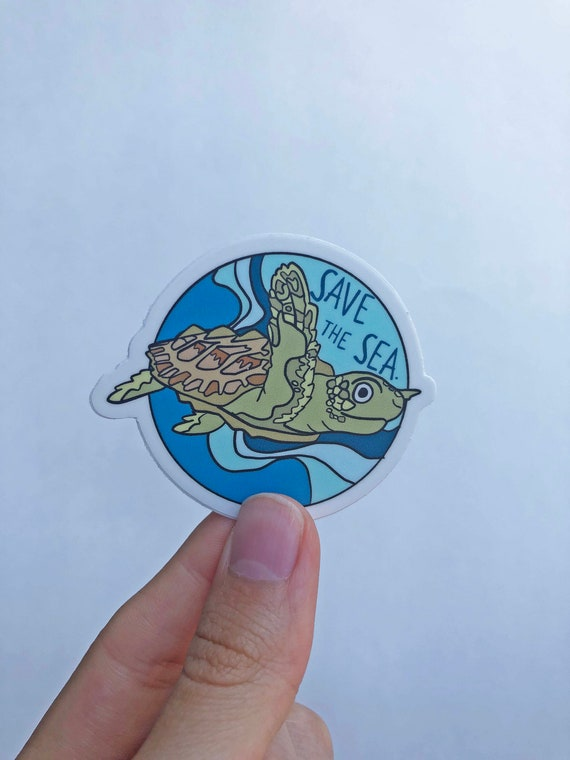 Turtle Sticker - Sea Turtle Sticker - Snorkeling Sticker - Under The Sea Sticker - Wildlife Sticker - Save The Turtles Sticker - Animals Eco