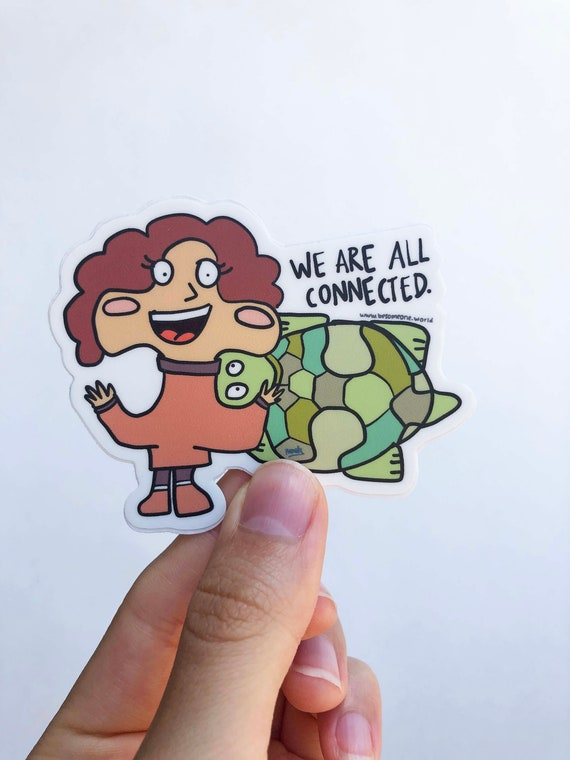 Puzzle Sticker, puzzle piece sticker, MacBook Pro Stickers, Laptop Stickers, Water Bottle Sticker, Connected Die Cut Sticker, Turtle Sticker