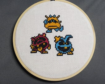Dr. Mario Made to Order framed Cross Stitch