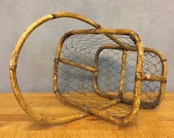 Antique Chickenwire Basket