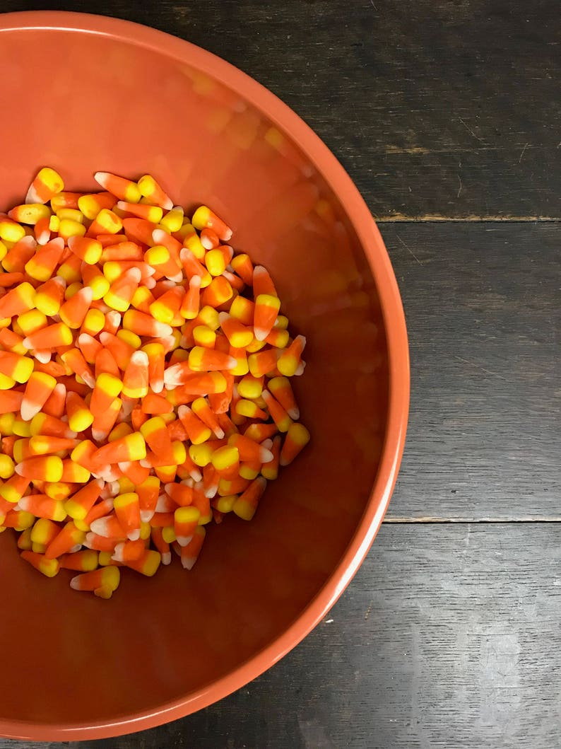 Vintage Orange Melamine Mixing Bowl