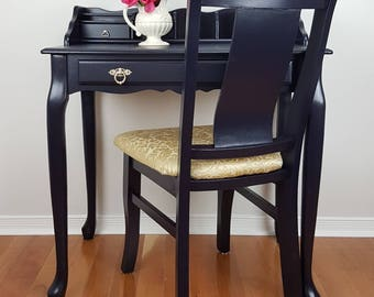 office furniture pics.  Office SOLDSOLD Regal Royal Navy Gold Writing Desk Chair Elegant Office  Furniture Upholstered Fabric Metallic Table Drawers Smooth Finish Decor In Office Furniture Pics