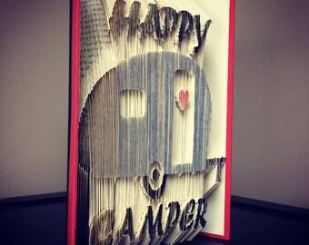 Happy Camper Book Art