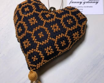 cross stitched heart