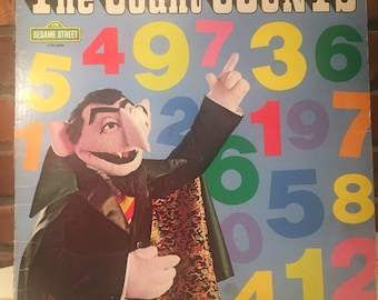 70s The Count Counts Sesame Street Classic Vinyl - Free Shipping