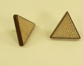 Boucles d'oreilles Triangle galuchat
