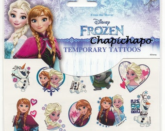 The snow Queen * Tattoos temporary tattoos Elsa Anna Olaf * Disney *.