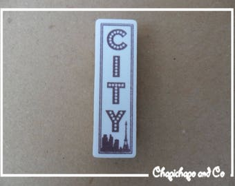 """""""CITY"""" travel vacation Scrapbooking card making Project life hobby stamp"""