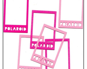 Set of 6 punch Polaroid frames Photo cutouts for Scrapbooking Cardmaking life crafting Project