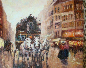 Paris Oil On Canvas Painting From Ukraine 30X40 cm