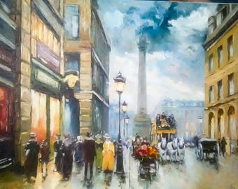Paris Oil On Canvas Painting From Ukraine 50x40 cm