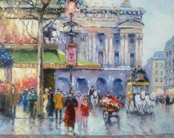 Paris Oil On Canvas Painting From Ukraine 30x50 cm