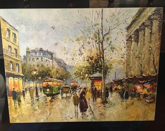 Paris Oil On Canvas Painting From Ukraine 40x30 cm