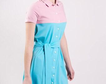 Mint&Raspberry Dress