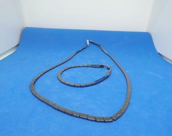 Set in hematite beads