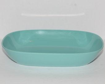 Vintage, MELMAC, Melamine, Turquoise, Aqua blue, Serving Bowl, Dinnerware, Hard Plastic, Camping, Made in Canada, MCM, Midcentury,Dinnerware
