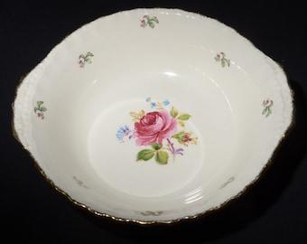 CREAM PETAL, Grindley,  Fragrant rose, serving bowl, serving dish, vegetable bowl, dish, creampetal, England, Vintage, floral, pink, rose