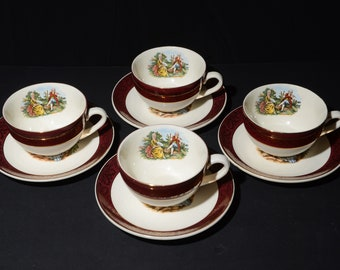 Vintage Sebring Co Serenade Dinner Plate 22k Gold Etsy