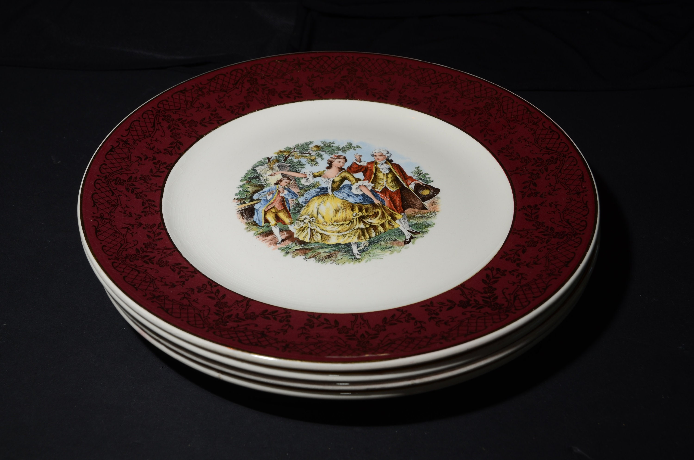 Set Of 4vintageoriginal Versaillesdinner Plate 22k Gold Etsy