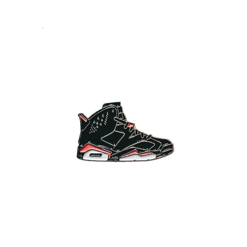 7e4692a867d50 Nike Air Jordan 6 Bred metal enamel pin badge