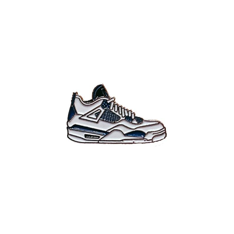 8b7c0d92c6d0c Nike Air Jordan 4 Military Blue metal enamel pin badge