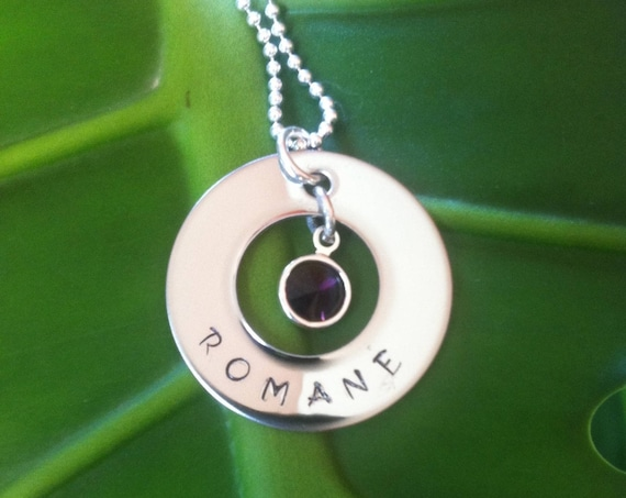 """Personalized name and swarovski necklace """"The sweet"""" little model"""