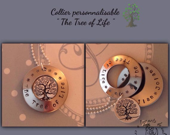 "Collier "" the tree of life"" personnalisable petit modèle"