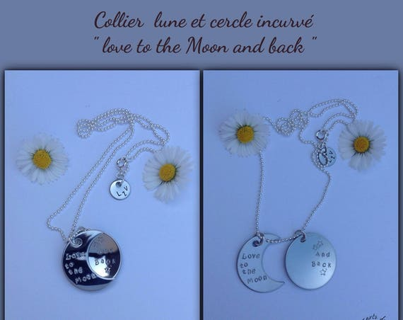 Necklace Moon, i love to the Moon and back necklace, love