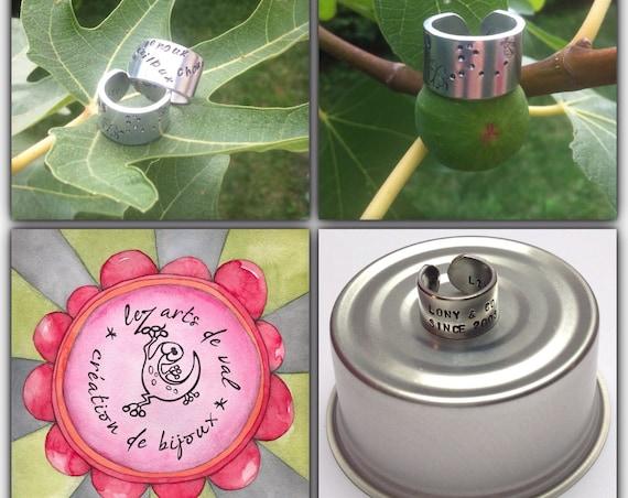 Large customizable aluminum ring