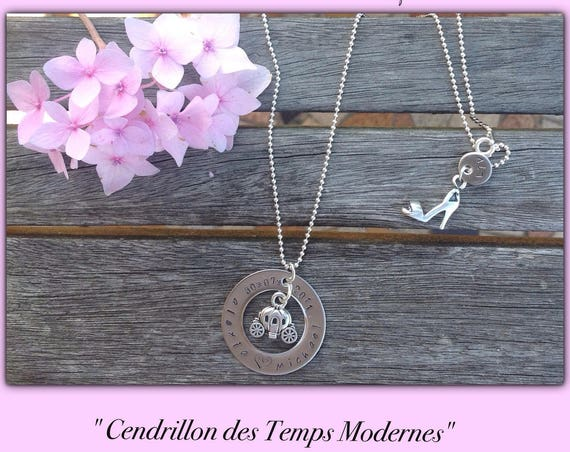 Personalized necklace, personalized gift, personalized jewelry, Cinderella, necklace women, necklace, fairy tales