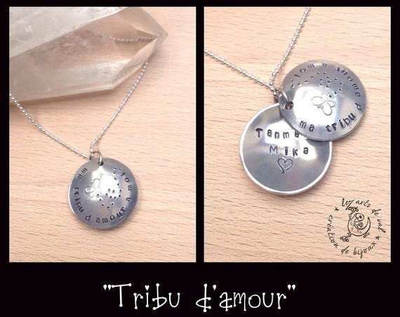 Personalized necklace, personalized jewelry, tribe, kids names necklace, name necklace, mother's day, secret necklace