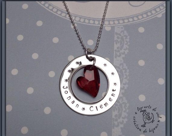 """collier personnalisable cœur swarovski   """" L' amoureuse """""""