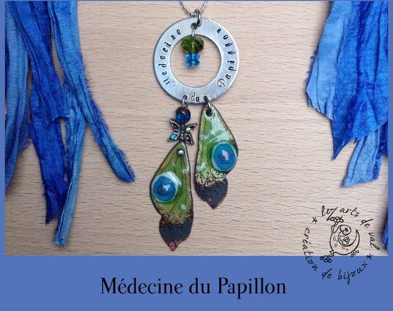 """Collier """"totem chic"""" médecine du papillon"""