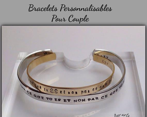 Bracelets personnalisables pour couple