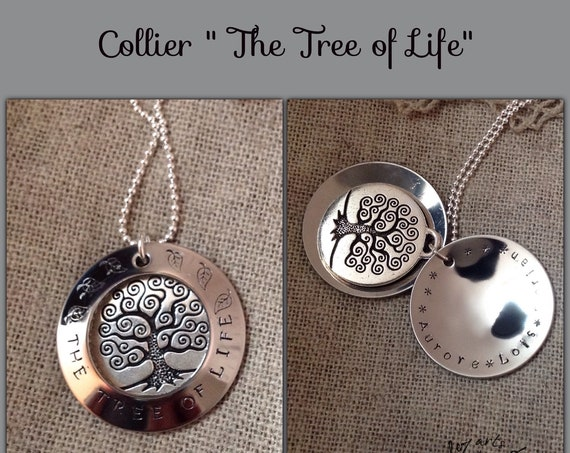"Collier "" the tree of life"" Grand modèle personnalisable"