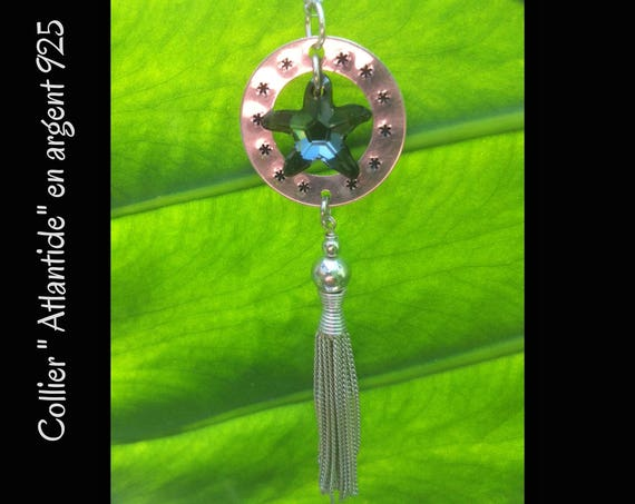 "Silver necklace and Swarovski sea star ""Atlantis"""