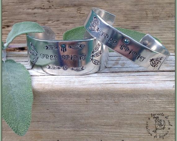 """Large Bracelet """" Free Spirit """""""