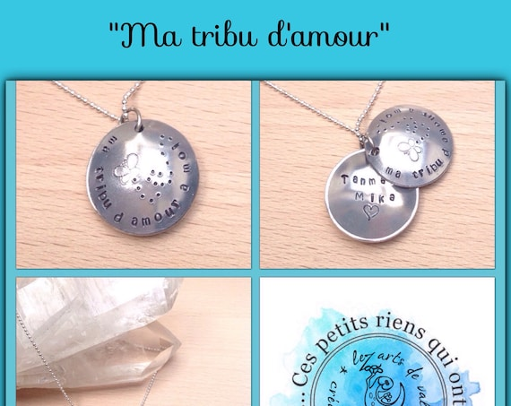 Collier personnalisable Ma tribu d'amour