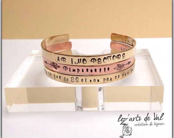 Bracelets jonc personnalisables en cuivre ou laiton
