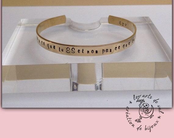 Bracelets jonc personnalisable en laiton