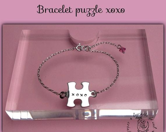 "Bracelet mini puzzle ""xoxo"" p ' little IMP!"