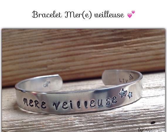 Bracelet jonc Mer(e) veilleuse