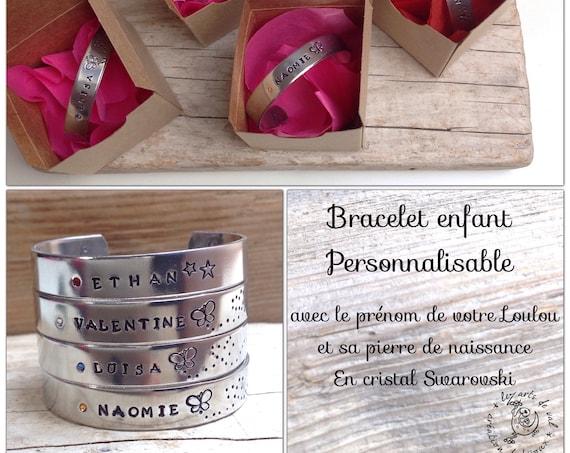 Bracelet jonc personnalisable pour enfant